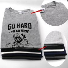 Cotton casual pug mens t shirts