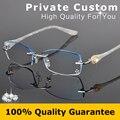 Moda Óculos de Armação Sem Aro Óculos Mulheres Prescrição Míope Óculos de Diamante Decorações Frame Ótico Óculos de Leitura 616