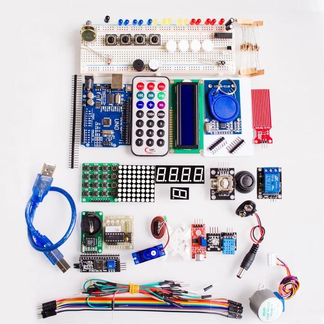 MEGA328P UNO R3 KIT version Améliorée du Starter Kit RFID apprendre Suite LCD 1602 pour arduino kit