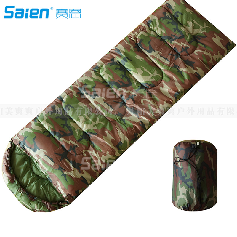 Sleeping Bags Camouflage Single Person Envelope Sleeping Bag With Carrying Bag For Kids Or Adults Outdoor Hiking Camping Tools Gear Camping & Hiking