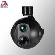 Dual sensor UAV Drone Gimbal Camera infrared thermal imaging camera and 30x zoom HD starlight camera