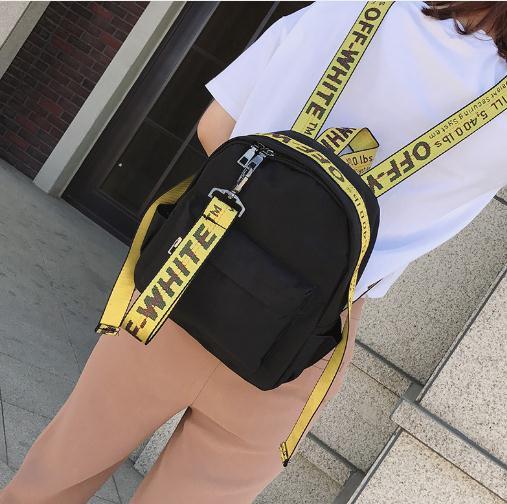 Benviched Neue Rucksack Farbige Band Oxford Tuch Schulter Tasche Weibliche Koreanische Version Freizeit Große Kapazität Reisetasche D77 Einfach Zu Verwenden