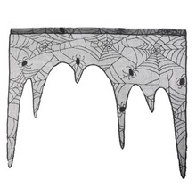 1pc lace spider wallpaper fireplace table topper covers decor halloween theme party home decor night club bar supplies - Popular Halloween Themes