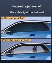 SUNICE Sputter folia barwiąca do zastosowań solarnych Sun Control Film izolacja cieplna folia fotochromowa VLT zmieniono 73% ~ 43% budynek samochodu lato użytkowania