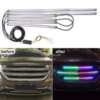 SITAILE Car DRL LED Light Strip Brake Flash Tube Sequential Turn Signal Warning EMS LED Car