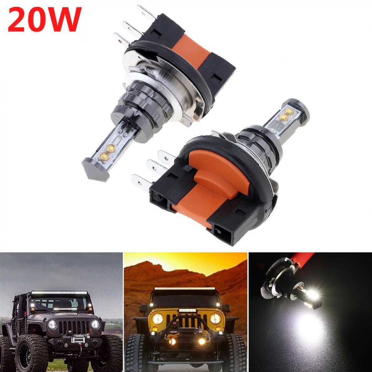 Lampes 12 V Phare Ampoule Led 2 Pièces Voiture 720lm Auto Antibrouillard W 360 20 K H15 Xte 6000 Blanc 4smd Dc Degrés 7vbygYf6