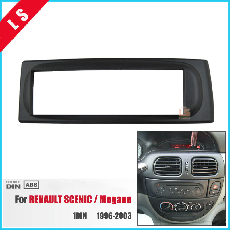 1Din Car Refitting radio Fascia for 1996-2003 RENAULT SCENIC Megane Dash Mount Kit Adaptor auto stereo install DVD Frame 1 DIN