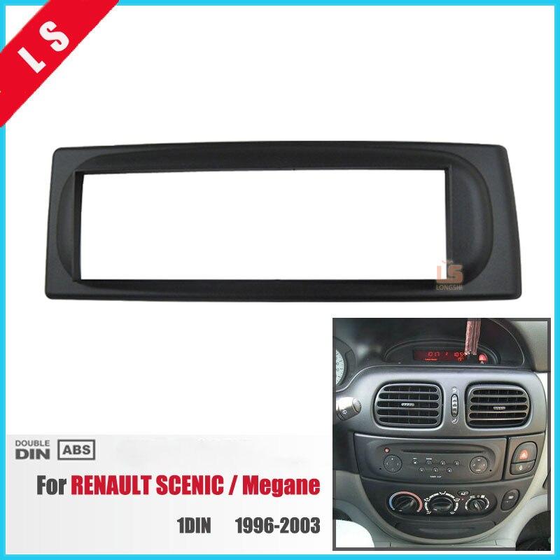 1Din de reequipamiento de coche radio Fascia para 1996-2003, RENAULT Megane Kit de montaje de panel adaptador estéreo para coche DVD de marco de 1 DIN