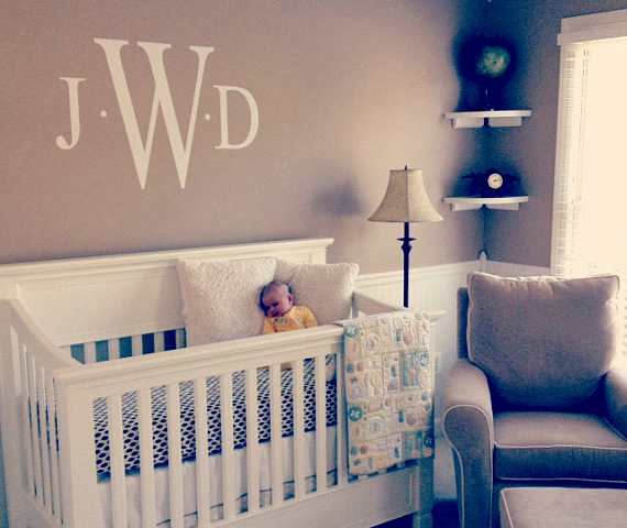 Custom Name Wall Stickers DIY Nursery Name Vinyl Wall Decals For   Custom Wall  Letter Decals