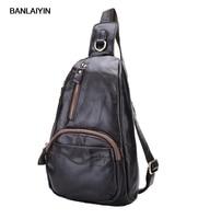 Nice New Men S Vintage Top Quality Genuine Leather Cowhide Messenger Shoulder Bag Sling Chest Back