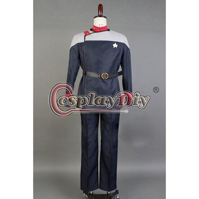 Cosplaydiy Star Trek Cosplay Costume Star Trek Starfleet 31 Uniform Set Adult Carnival Halloween Outfit Custom Made D0406