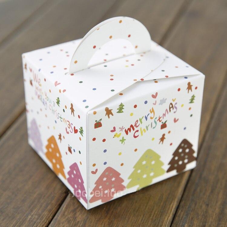 Mini weihnachten apple box handheld cupcake süßigkeiten cookie boxen ...