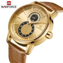 7e21b4ff9 100% Original Relógio NAVIFORCE 30 m Dos Homens Top Marca de Luxo Militar  Do Exército