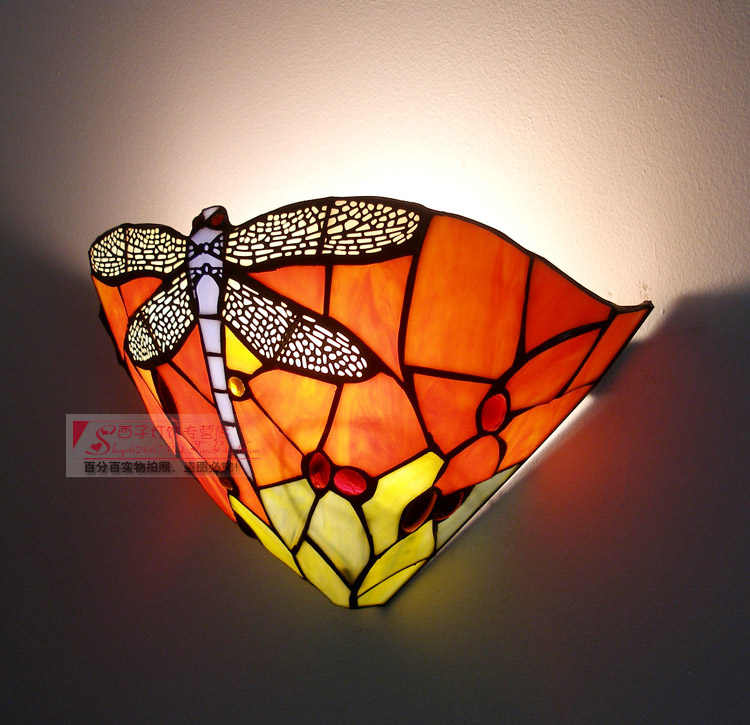 light 30CM European colour wall lamp glass TV background creative cafe bar staircase aisle wall light wall sconc ZA8248