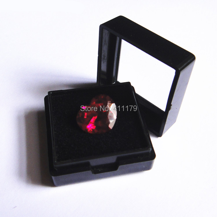 black gemstone case gems storage boxes Jewelry Packaging cases display box 28*28mm