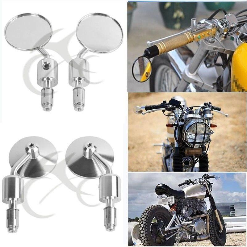 """Motocykl uniwersalny aluminiowy widok z tyłu 3 """"uchwyt Bar End 7/8"""" lusterka dla Kawasaki Yamaha Honda Suzuki motocykl Chopper"""