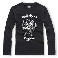 Motörhead England Hardcore Punk Rock Herren Langarm T-shirt Oansatz 100% baumwolle Druck XXL Schwarz HipHop Streetwear Fashion Shirts