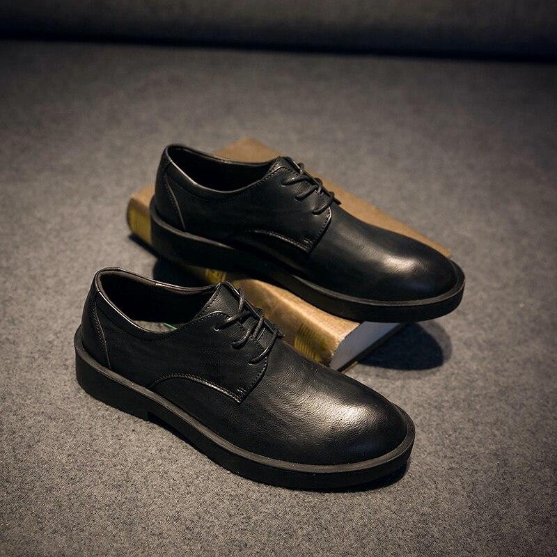 up 38 De 2017 Casual Ocio Negro Joker Zapatos Cuero Moda Pantshoes Británica Lace Negocios 43 Tamaño Hombres qq8vrZfn