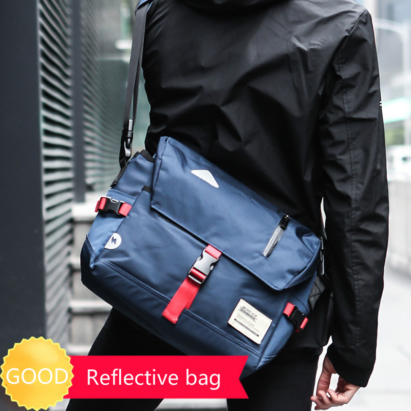 New Fashion Outdoor Reflective Riding Messenger Bag Dead Fly Bag Simple Shoulder Bag Casual Oxford Cloth Crossbody BagNew Fashion Outdoor Reflective Riding Messenger Bag Dead Fly Bag Simple Shoulder Bag Casual Oxford Cloth Crossbody Bag