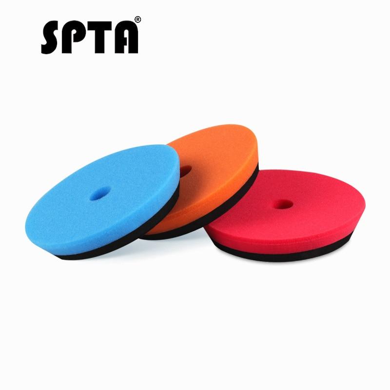 SPTA 6 Inch Car Polishing Pad Buffing Waxing Pad Sets Blue Plate Wheel Sponge For Car Polisher Machine Buffer Sander Accessories