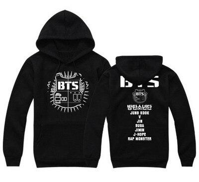 BTS kpop loose fashion Print warm hoodies women Korea autumn winter warm hooded sweatshirts men streetwear Harajuku clothes