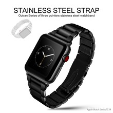 Original HOCO 316L Stainless Steel Band for Apple Watch Series 4 3 2 1 Metal Wrist Strap 42/44mm Watchband Replacement Bracelet