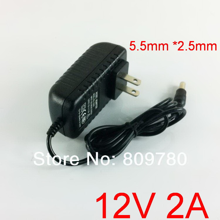 50PCS High quality IC 12V2A AC 100V 240V Converter Adapter DC 12V 2A 2000mA Power Supply