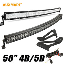 "Auxmart 5D 4D/50 ""480 w Virutas Del Cree Curved LED Light Bar Offroad 12 V 24 V 4WD 4×4 Camión Jeep Cherokee XJ 1984 ~ 2001 Remolque"
