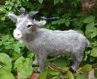 new lovely creative simulation gray goat toy lovely handicraft goat doll gift about 37x26cm