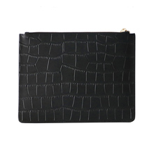 Genuine Crocodile Leather Embossed Clutch Bag With Card Slots For Women 2018 New Fashion Ladies Customize Initial Letters Name