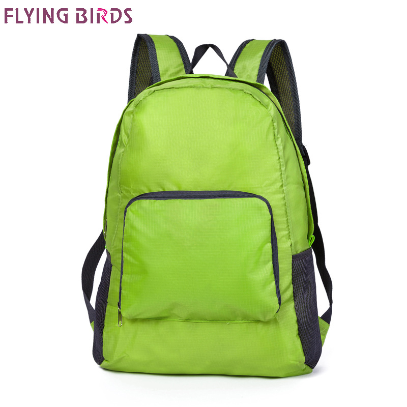 FLYING BIRDS!Women Backpacks nylon waterproof double shoulder bags for women big capacity Folding travel bag Book bag a3477 authentic polo golf double clothing shoes bags mens golf apparel travel bag bolsas zapatos double garment high capacity package