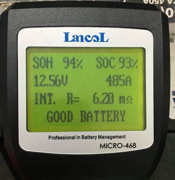 Lancol Professional MICRO 468 Battery life Tester car Battery Conductance tester for 12 volt gel Battery