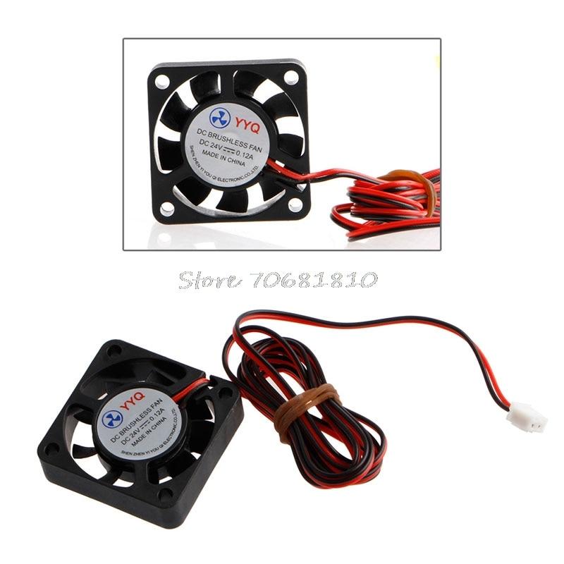 24V 40mm DC Brushless Cooling Fan 4010S 40x40x10mm CPU GPU For 3D Printer Extruder -R179 Drop Shipping av 8025m24b dc 24v brushless cooling fan for diy