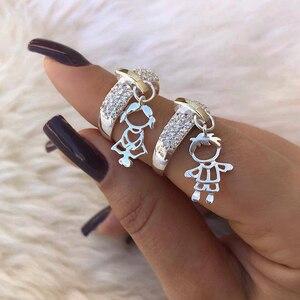 Charme Paar Ring Gold Silber Farbe Jungen/Mädchen Anhänger Ringe für Frauen Männer Hochzeit Band Beste Freund Schmuck Size5-13 bague homme
