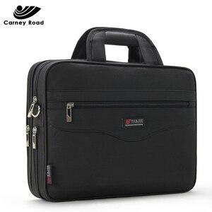 Image 2 - 防水ビジネス男性 14 インチのラップトップブリーフケースバッグ高品質カジュアルハンドバッグ男性の事務所バッグコンピュータショルダーバッグ
