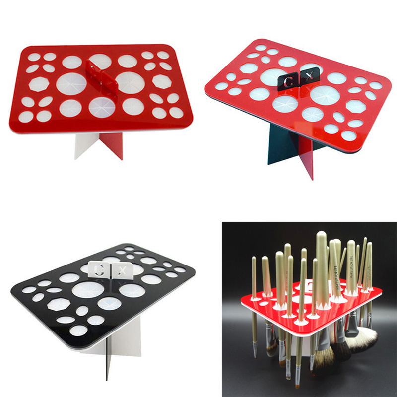 New Cosmetic Holder For Brushes Stand Folding Collapsible Air Drying Makeup Brushes Organizing Tower Tree Rack Tool WH998