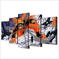 Uzumaki Naruto Imagem Cópias Da Lona de 5 Peças Pintura Abstrata Painéis de Arte De Parede Poster Pictures Para Living Room Home Decor