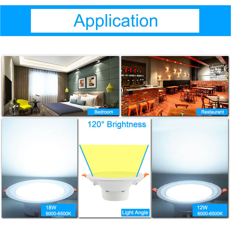 GreenEye Ultra Bright 12w 18w 6w / 7,5 inch LED LED Downlight 220v - Iluminatul interior - Fotografie 6