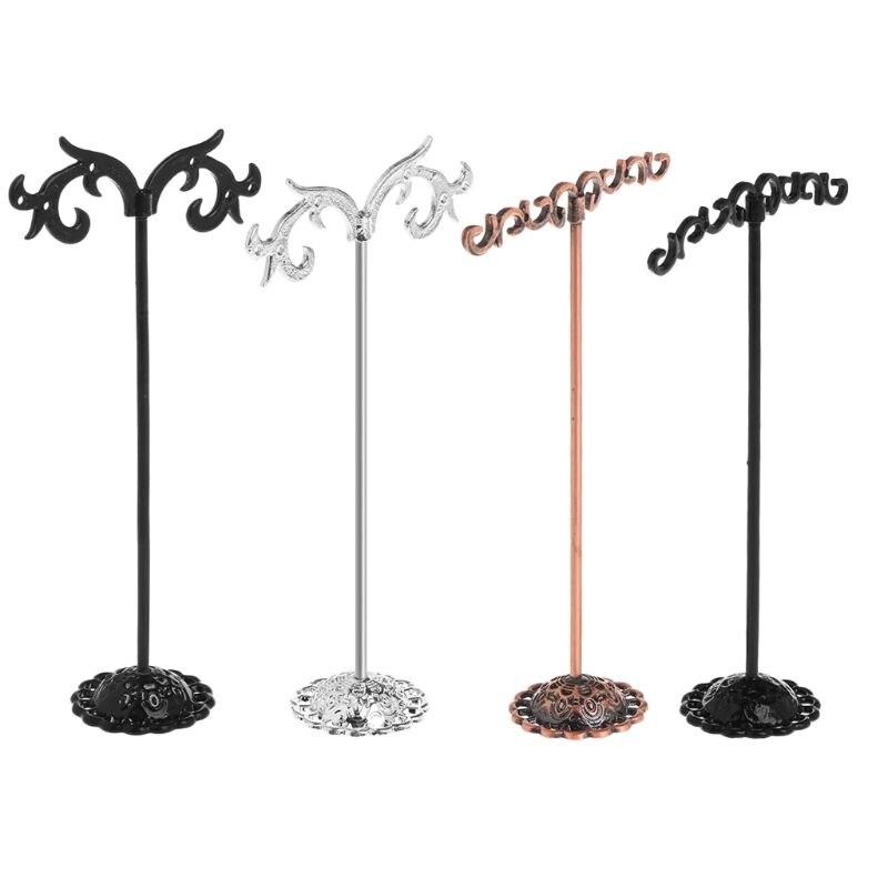 1 Set Jewelry Shelf Display Rack Stand Holder Earrings Ear Stud Metal Organizer Storage Vintage Exquisite Gifts Boutique Tree De