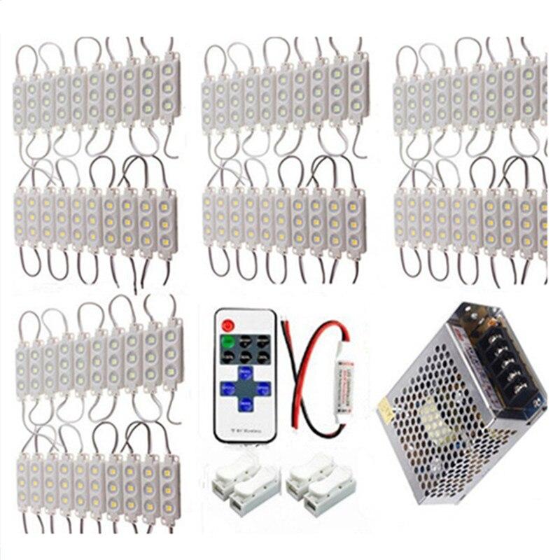 1000 шт. 5050 пикселей модуль 3 светодиода впрыска Водонепроницаемый для знака письмо магазина белый + RF контроллер + Мощность поставить 1200 Вт