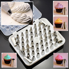 Free Shipping Cake Decorating Tools 52PCS Stainless Steel Pastry Bag Nozzles Sugarcraft Icing Piping Tips