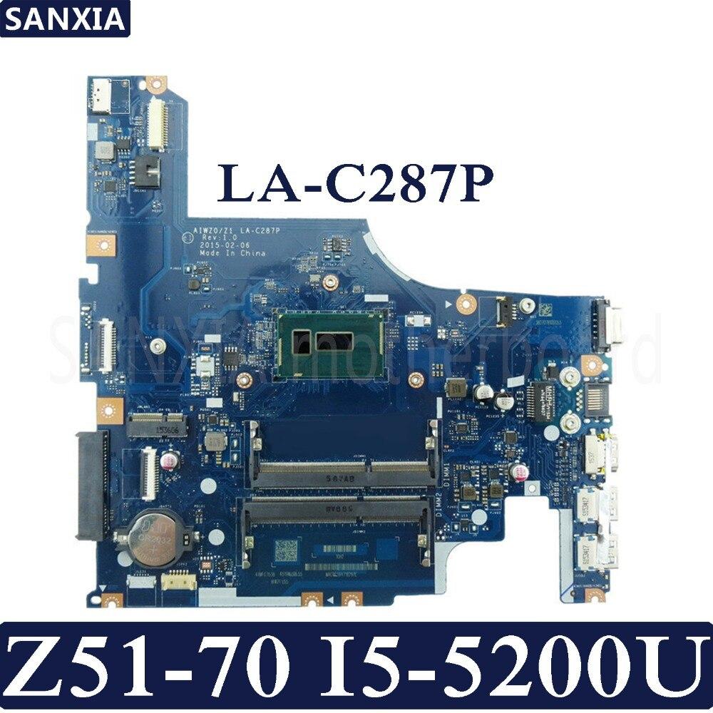KEFU LA-C287P Laptop Motherboard For Lenovo Ideapad Z51-70 Original Mainboard I5-5200U