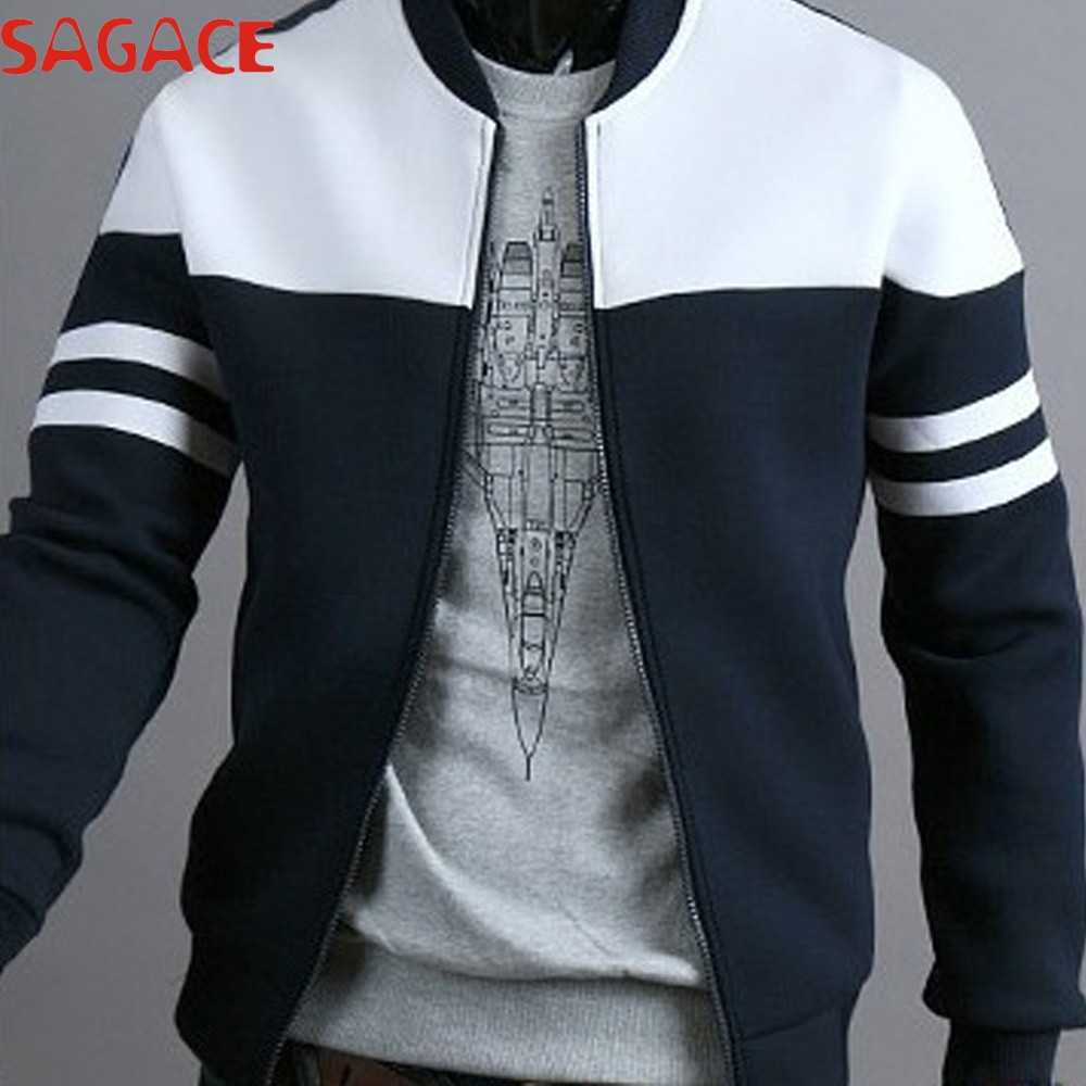 SAGACE Jacket Men Stylish patchwork Jackets Autumn Sportswear Coat Zipper Jacket Single Breasted Winter Jacket chaqueta hombre