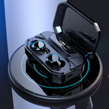 G02 TWS 5 0 Bluetooth 9D Stereo Earphone Wireless Earphones IPX7 Waterproof Earphones 3300mAh LED Smart Power Bank Phone Holder cheap Lesozoh In-Ear None Dynamic 20-20000Hz For Internet Bar Monitor Headphone for Video Game Common Headphone For Mobile Phone