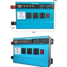 цена на 3000w 12V 24V To 220V Car Inverter 4-USB Dual Digital Display Of Protection Voltage Modified Sine Wave Converter