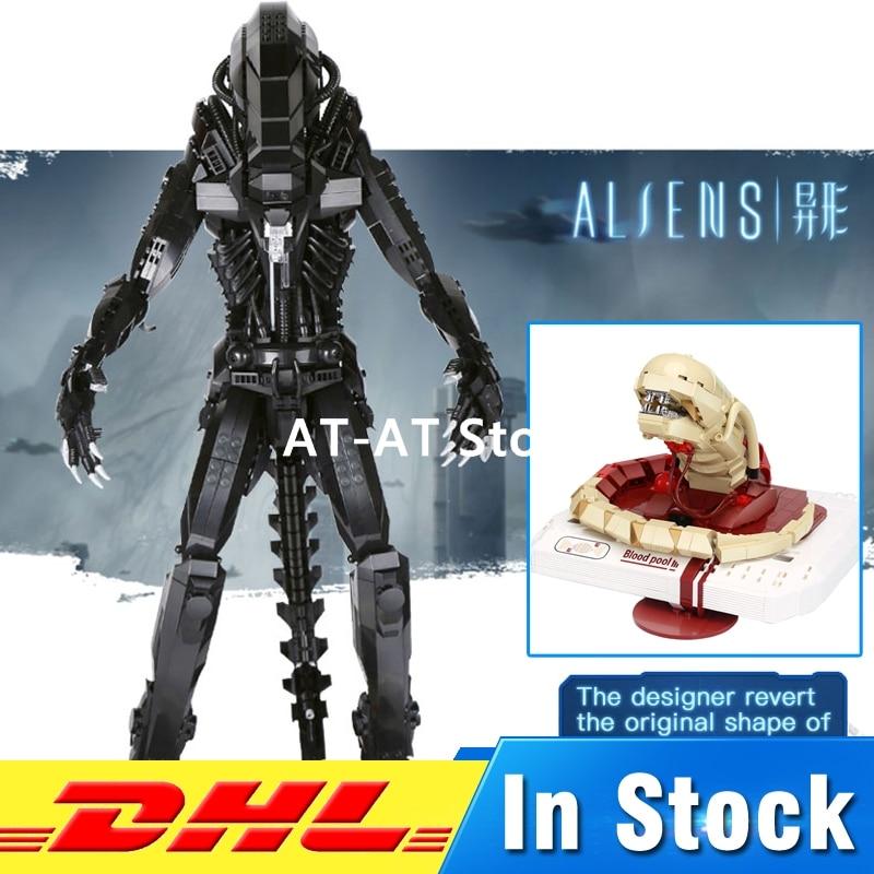 DHL LEPIN XINGBAO 04001 2020Pcs The Alien Robot Set + 04002 830Pcs New Alien Set Building Blocks Model Toy dhl lepin movie series xingbao 04001 2020pcs alien robot set 04002 830pcs the new alien set blocks diy toys christmas gifts