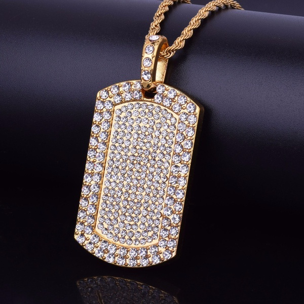 14k Gold IP 10MM Jumbo Flawless Lab Made Iced Out Chain