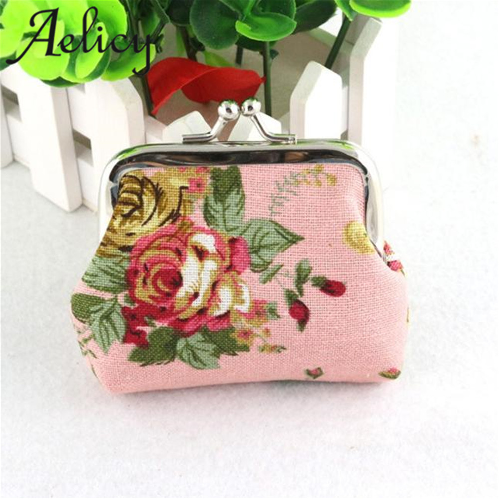 2018 Women Hot wallet new Lady Retro Vintage Flower rose Small Wallet Hasp Purse Clutch Bag For girls