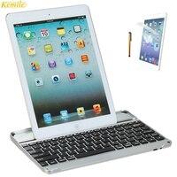 Kemile Alumínio Sem Fio Bluetooth 3.0 Teclado De Metal Para Apple iPad Air 1 & ar2 & para iPad5 9.7 polegada + protetor de tela & Touch pen