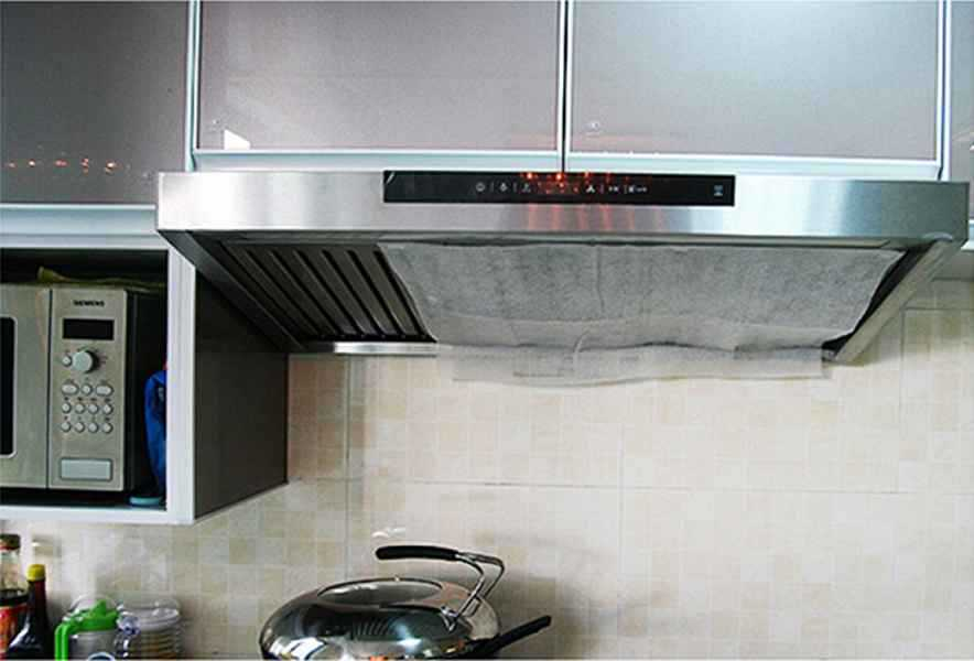 2015 Creative Japanese Household Range Hood Kitchen Smoke Lampblack Machine  Ventilator Paper Home Oil Absorbing Filter ...